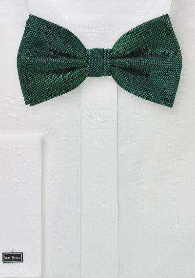 Hunter Green MicroTexture Bowtie - Men Suits
