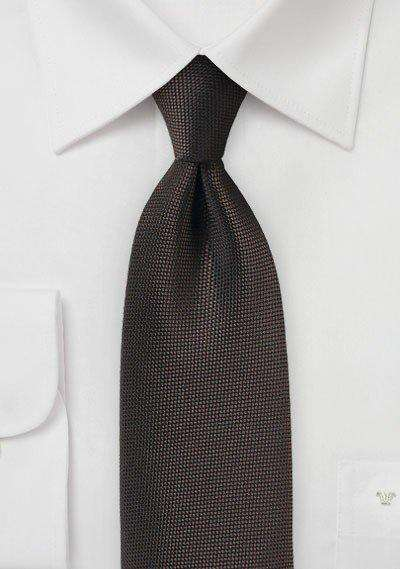 Dark Chocolate MicroTexture Necktie - Men Suits