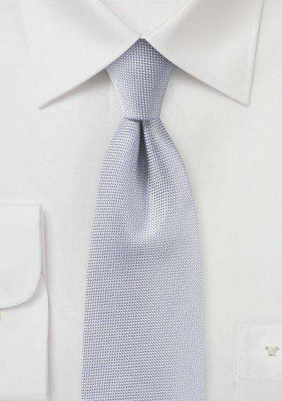 Silver MicroTexture Necktie - Men Suits