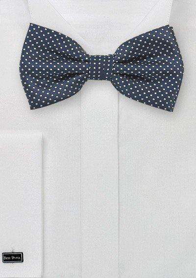 Midnight Pin Dot Bowtie