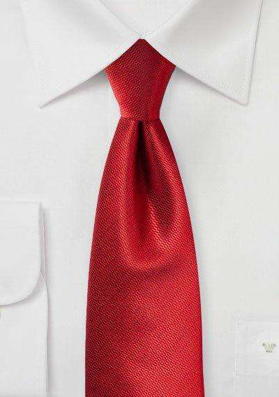 Cherry Red Small Texture Necktie