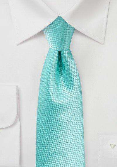 Spa Blue Small Texture Necktie