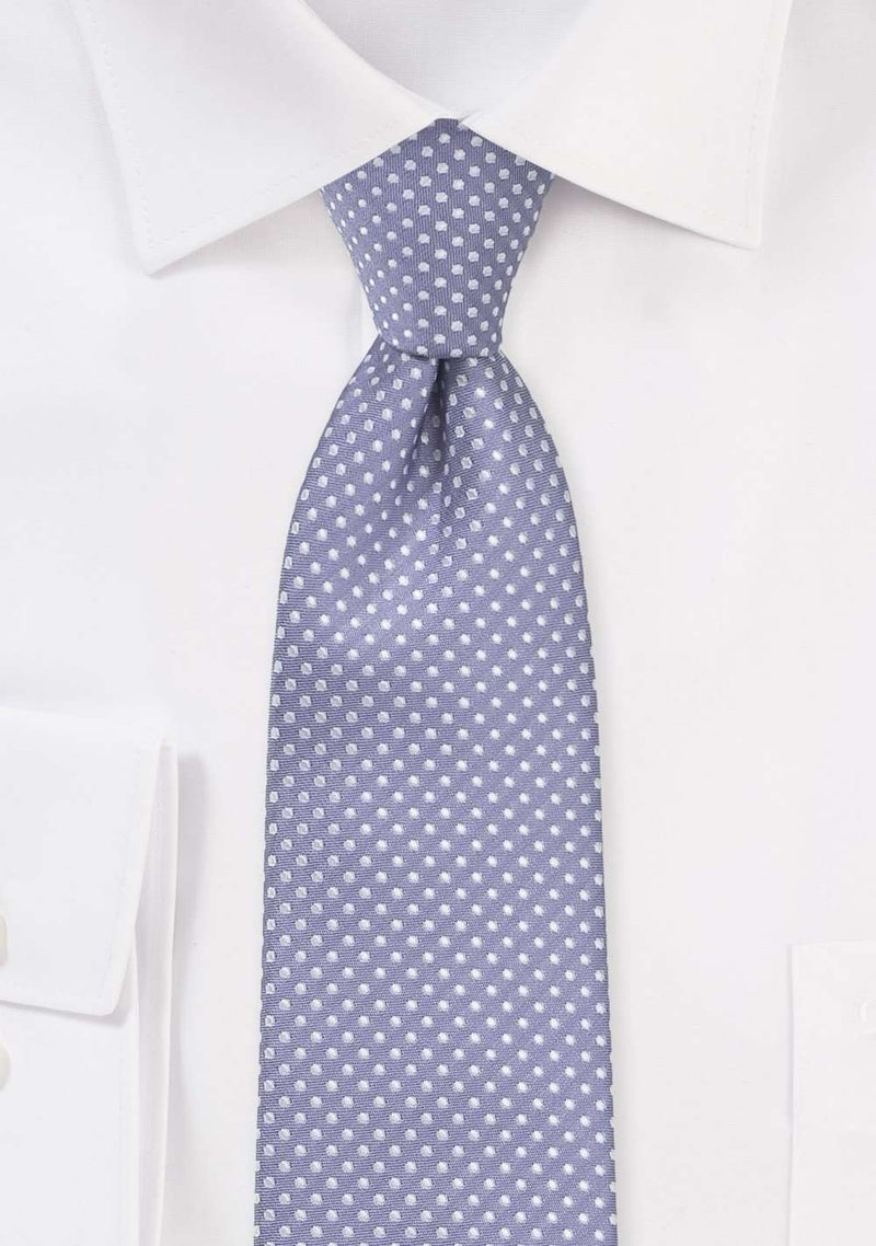 Lilac Pin Dot Necktie