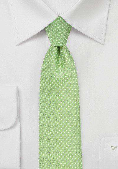 Spring Green Pin Dot Necktie