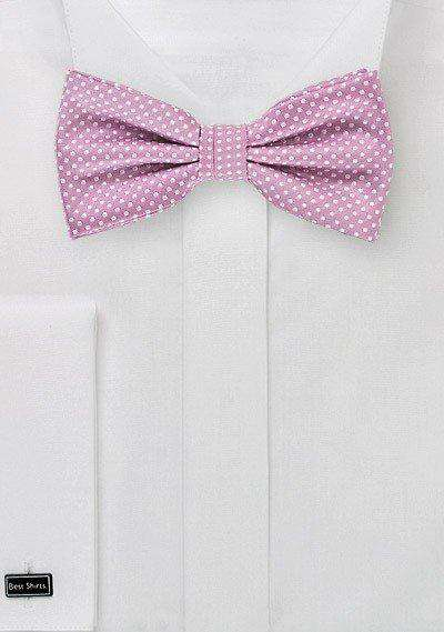Orchid Pin Dot Bowtie