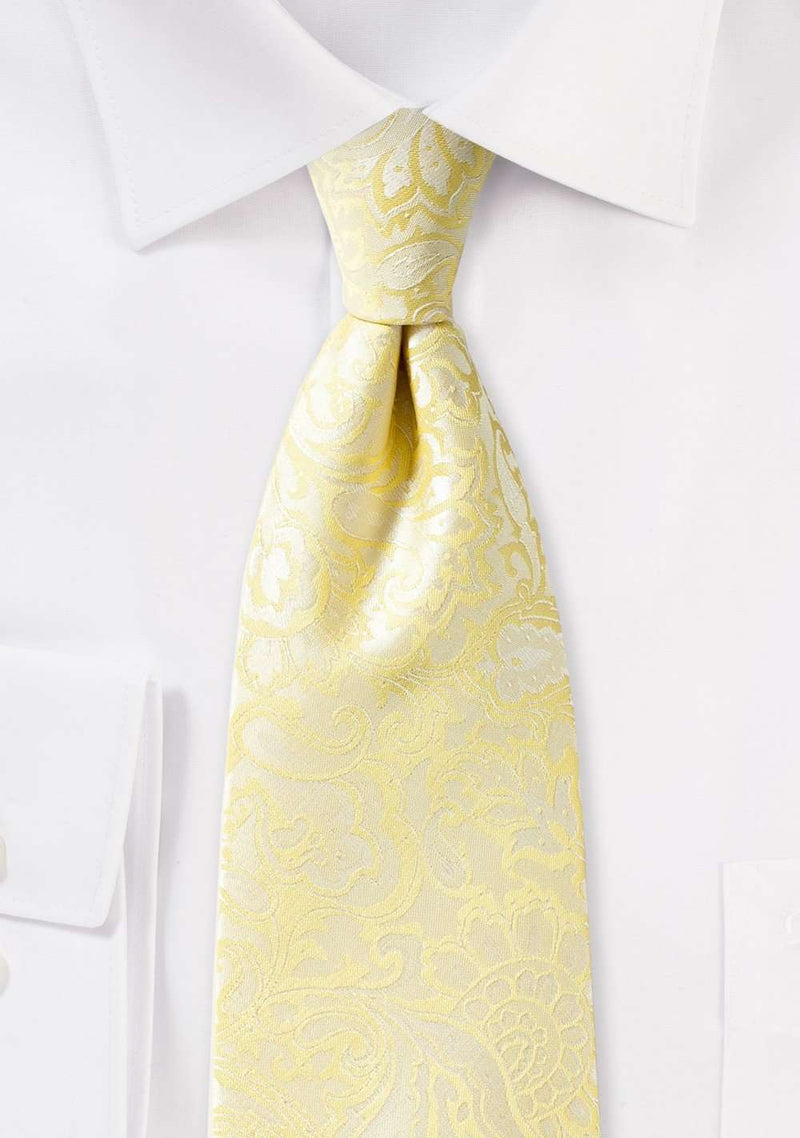 Canary Floral Paisley Necktie