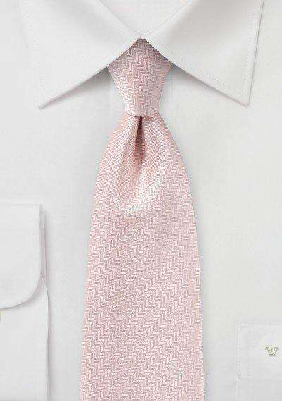 Peach Blush Herringbone Necktie