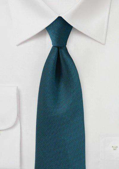 Peacock Teal MicroTexture Necktie - Men Suits