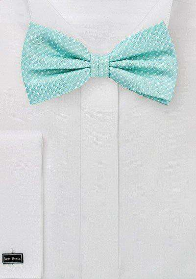 Sea Mist Pin Dot Bowtie - Men Suits