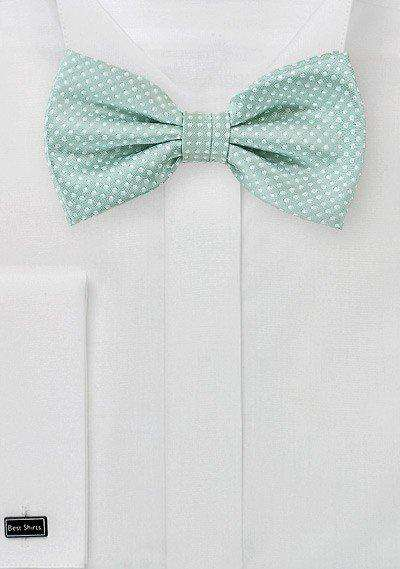 Mint Pin Dot Bowtie