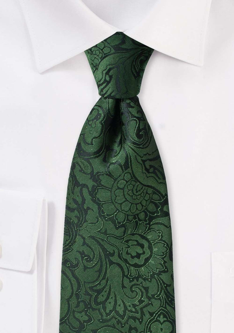 Forest Floral Paisley Necktie
