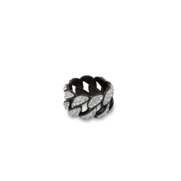 Patterned Diamond Bezzled Ring - Men Suits