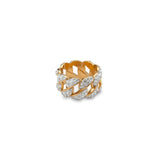 Patterned Diamond Bezzled Ring