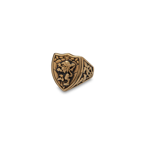 Gold Griffin Ring - Men Suits