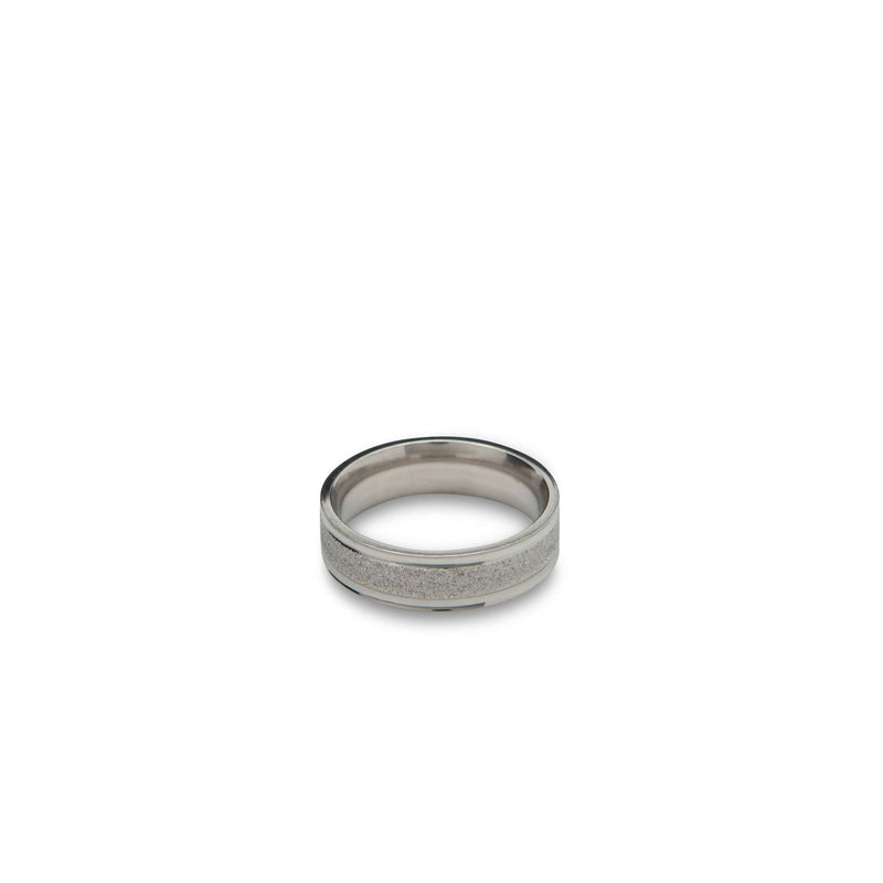 Silver Sparkle Band Ring