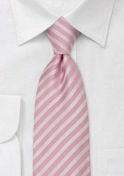 Tonal Rose Narrow Striped Necktie