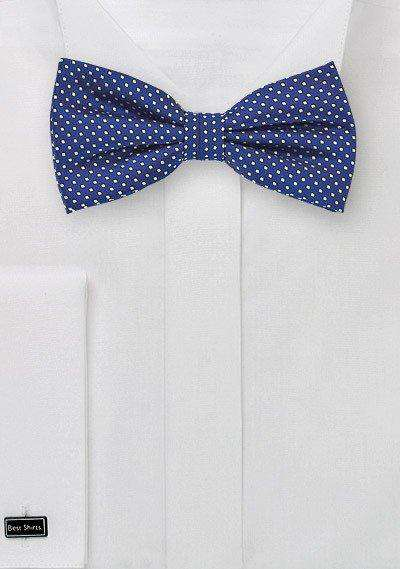 Royal Pin Dot Bowtie