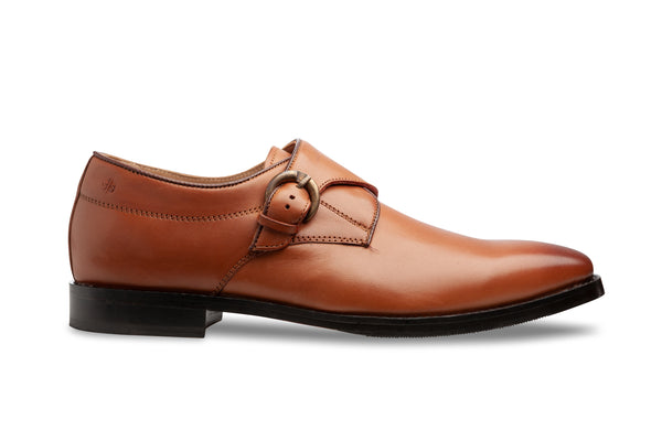 Tan Monk Strap - Men Suits