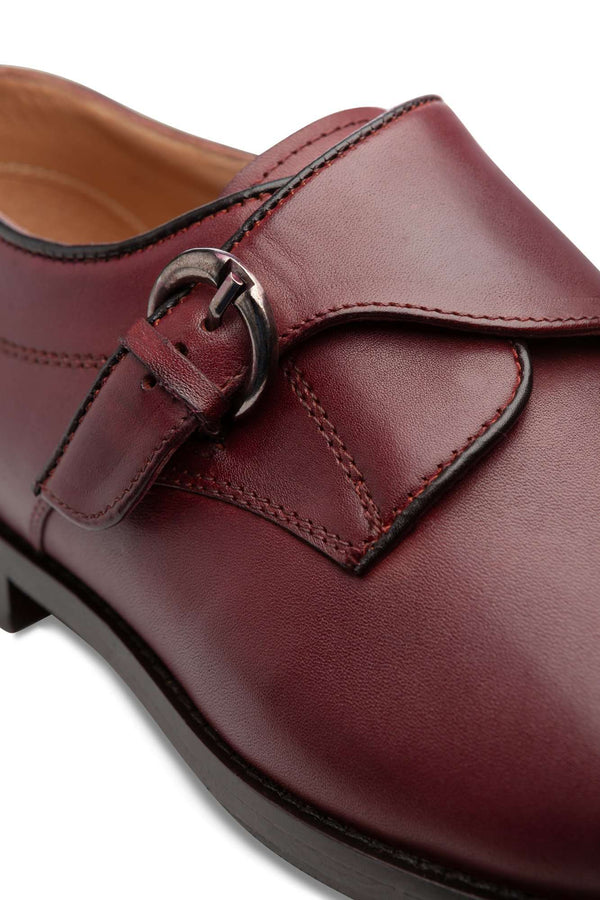 Bordeaux Monk Strap