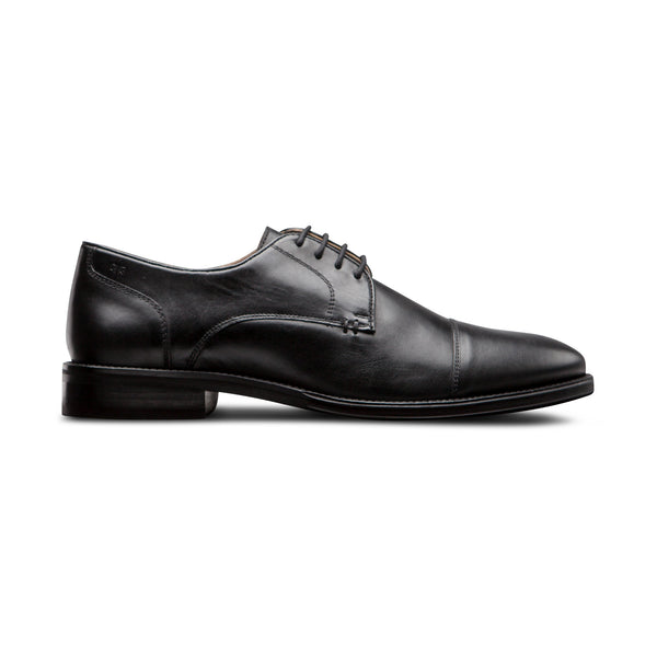 Black Captoe Shoes - Men Suits