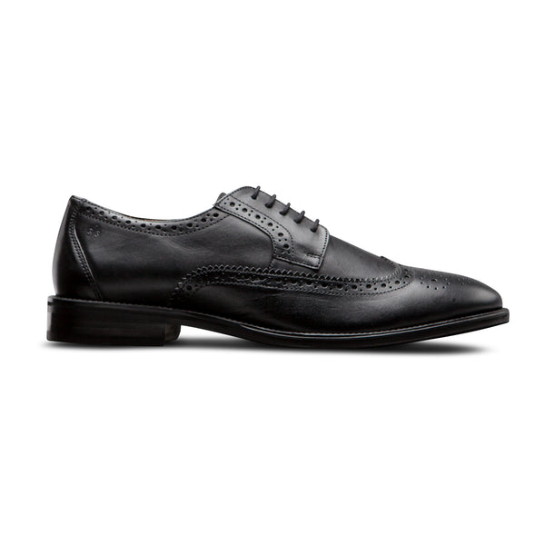Black Wingtip Shoes - Men Suits