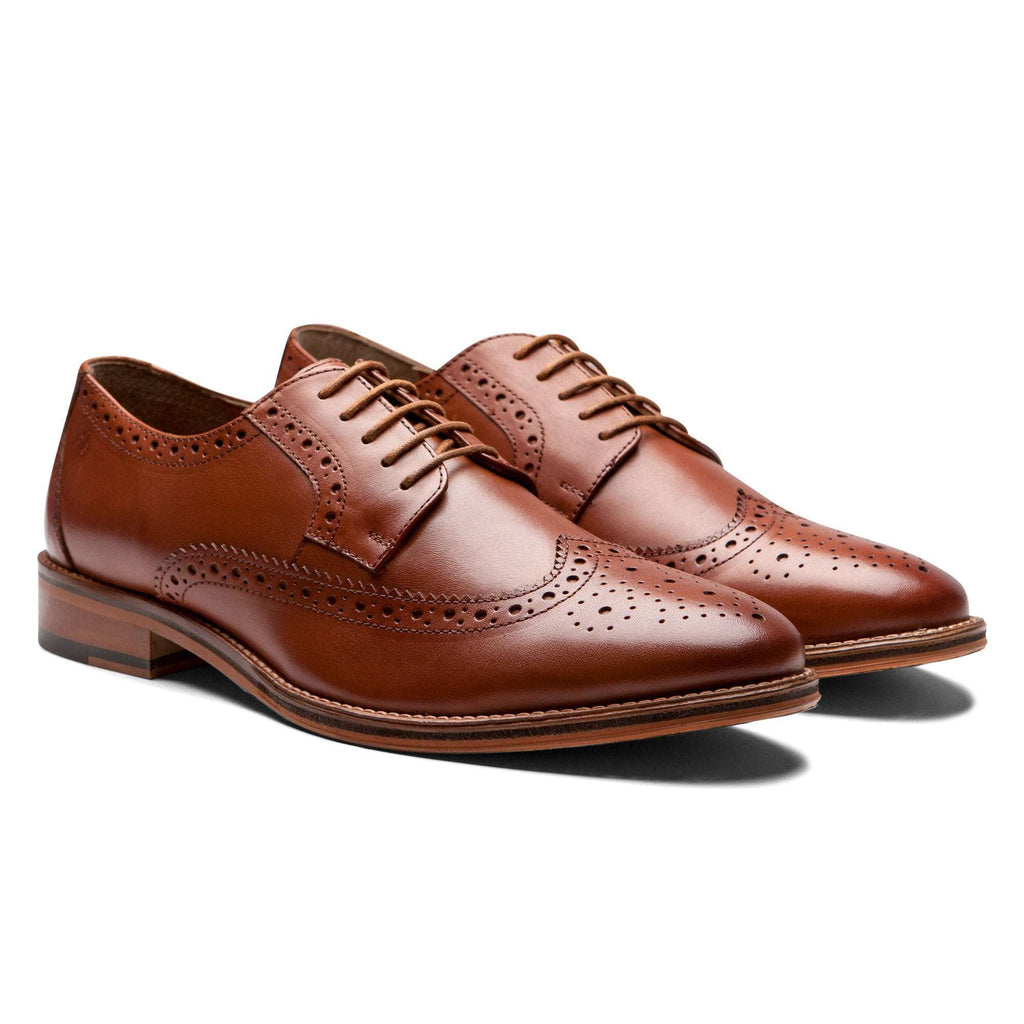 British Tan Wingtip Shoes - Men Suits