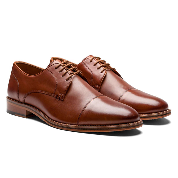 British Tan Captoe Shoes - Men Suits