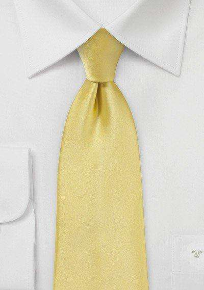 Butter Solid Necktie - Men Suits