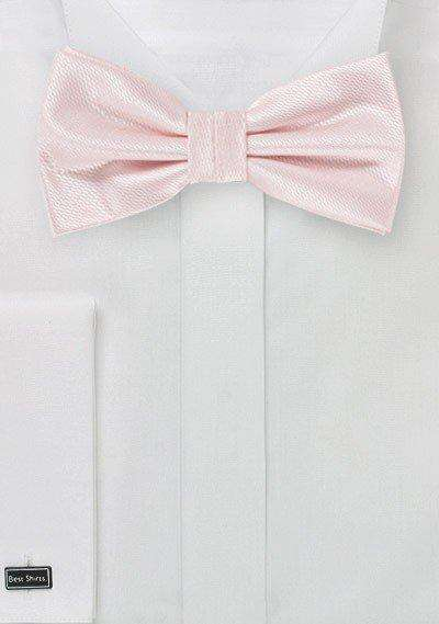 Blush Pink Small Texture Bowtie