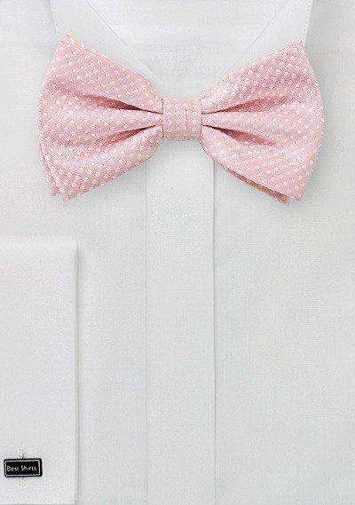 Soft Pink Pin Dot Bowtie - Men Suits