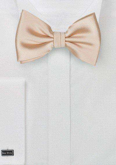 Champagne Solid Bowtie