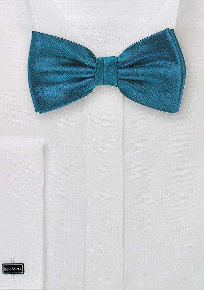 Dark Teal Solid Bowtie - Men Suits