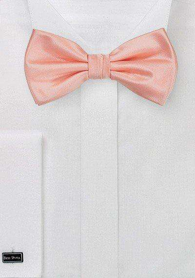 Topical Peach Solid Bowtie - Men Suits