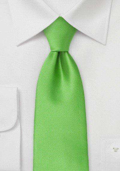 Kelly Green Solid Necktie - Men Suits