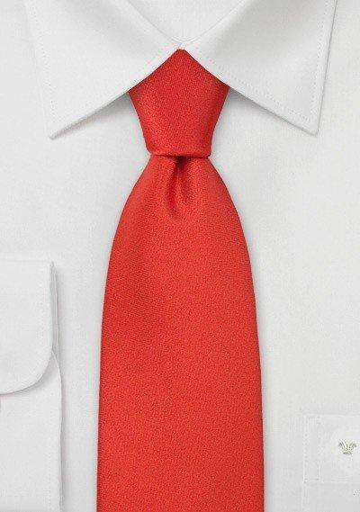 Cinnabar Solid Necktie - Men Suits