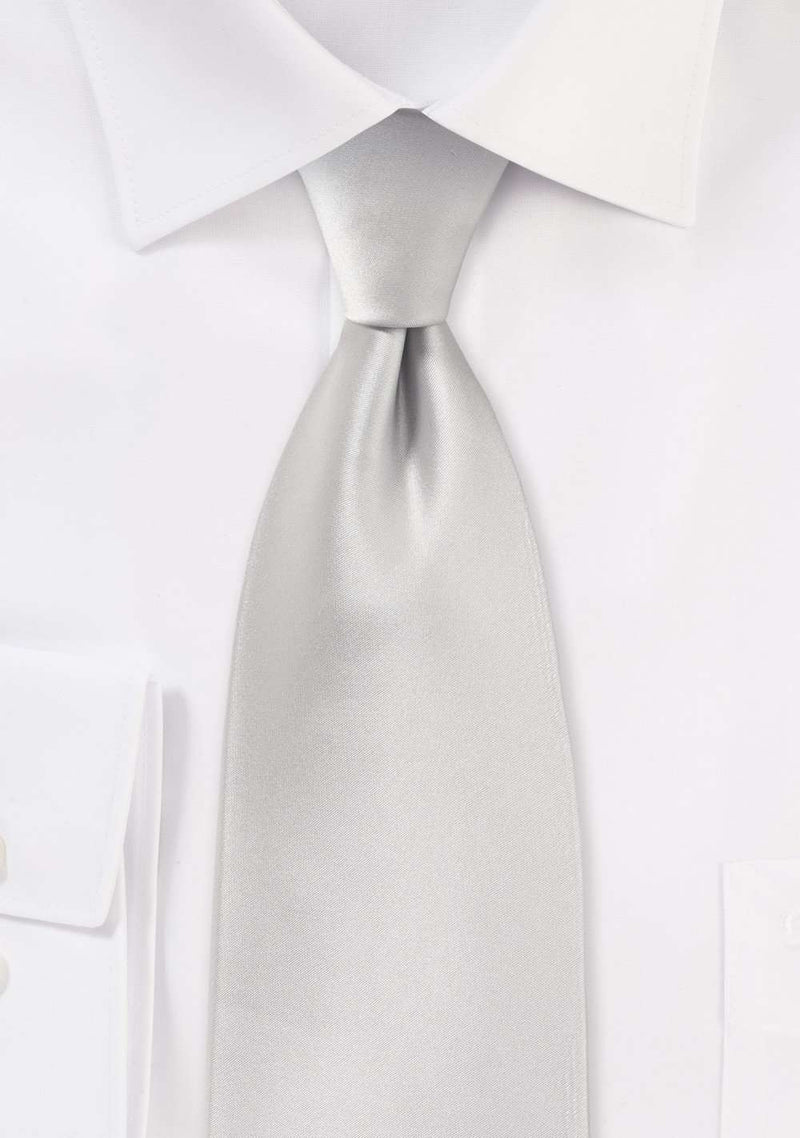 Light Silver Solid Necktie