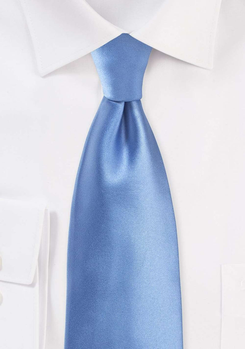 Periwinkle Solid Necktie - Men Suits