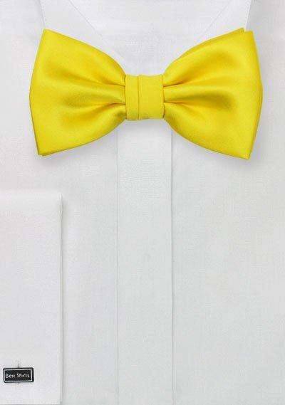 Canary Solid Bowtie