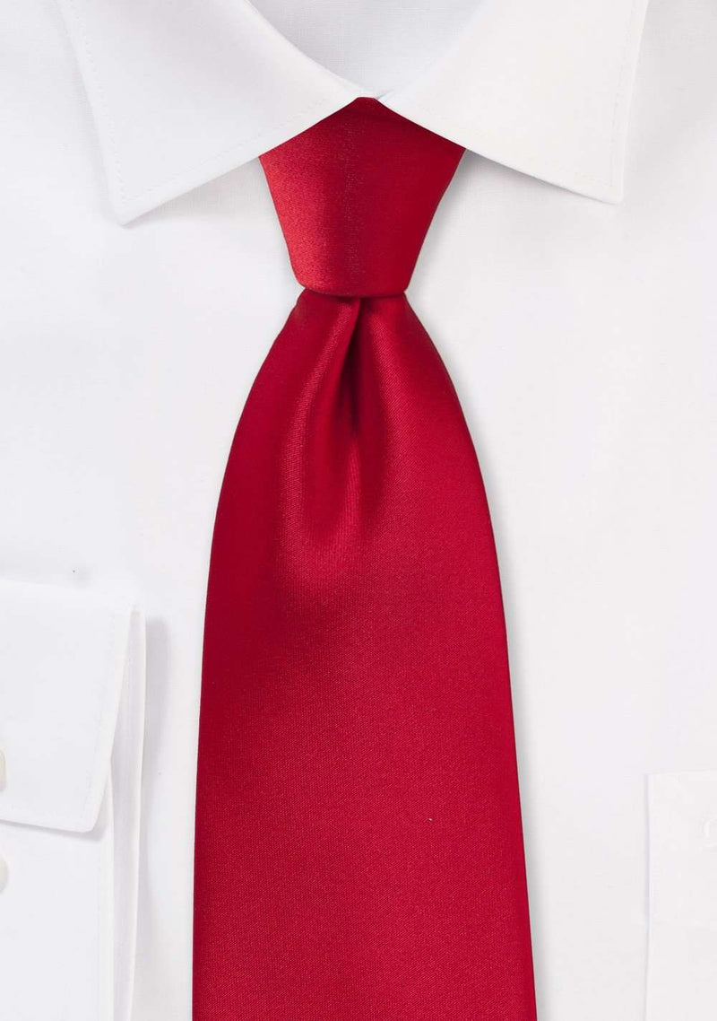 Cherry Solid Necktie