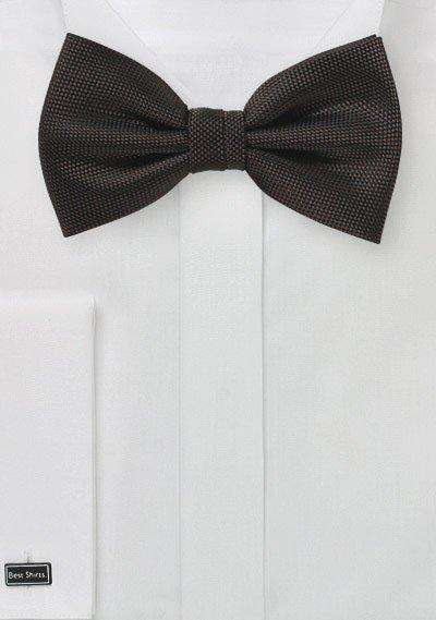 Chocolate MicroTexture Bowtie - Men Suits