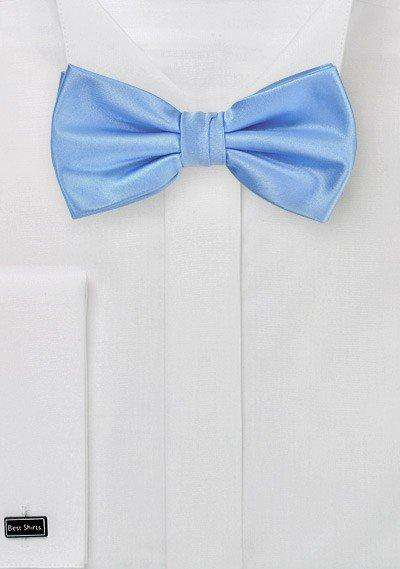 Sky Blue Solid Bowtie