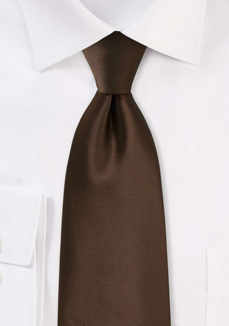 Chocolate Solid Necktie