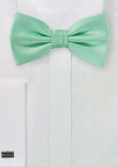 Mint MicroTexture Bowtie - Men Suits