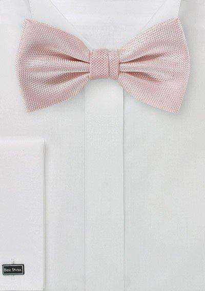 Peach Blush MicroTexture Bowtie - Men Suits