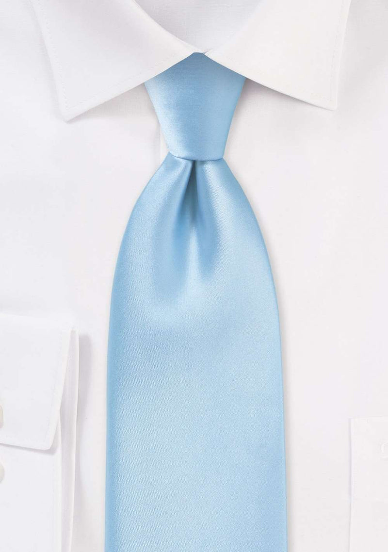 Powder Blue Solid Necktie