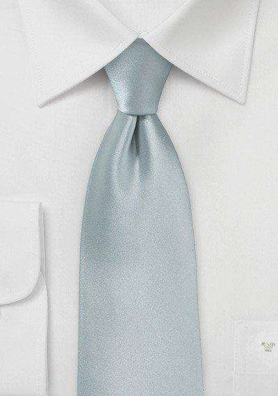 Dove Gray Solid Necktie - Men Suits