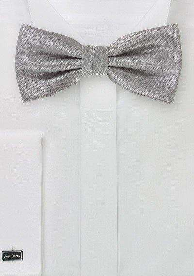Sterling Silver Small Texture Bowtie - Men Suits