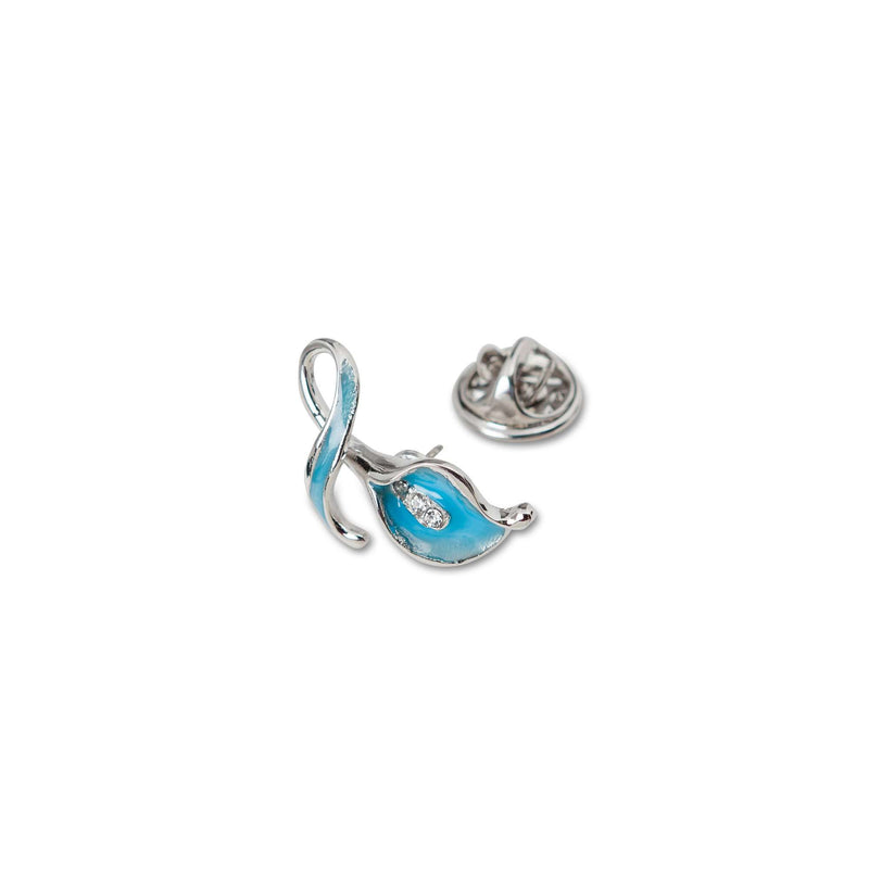 Blue Tulip Lapel Pin