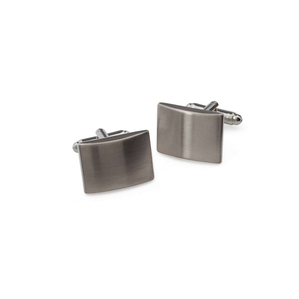 Brushed Metal Cufflinks - Men Suits