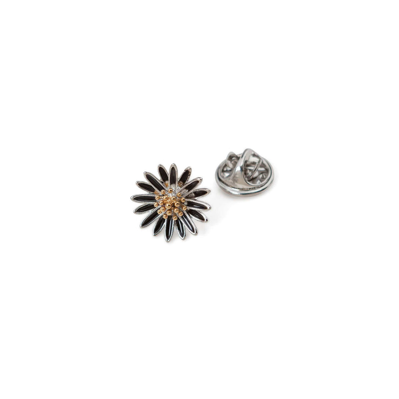 Dual Tone Sun Flower Lapel Pin